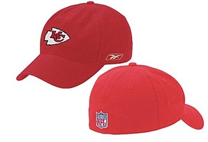 Kansas City Chiefs NFL Red Unstructured Stretch Fit Sized Cap By Reebok