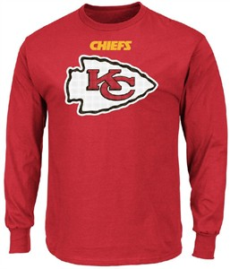 Kansas City Chiefs Adult Red Critical Victory 2 Majestic Long Sleeve T Shirt