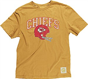 a9f967935 Kansas City Chiefs Button Hook Slimmer Fit Retro T Shirt By Reebok ...