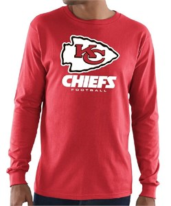 Kansas City Chiefs Mens Red Critical Victory 3 Long Sleeve T Shirt