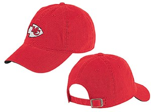 Kansas City Chiefs Red  Logo NFL Unstructured Adjustable Slouch Fit Cap By Reebok