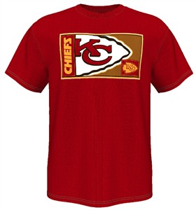 Kansas City Chiefs Red HOF Gamer V Short Sleeve T By Majestic