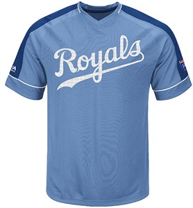 Kansas City Royals Mens Winning Tandem Cooperstown Synthetic V Neck Jersey by Majestic