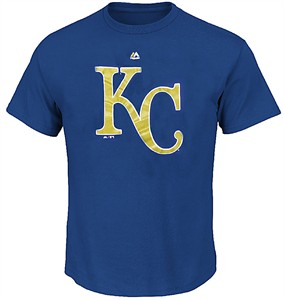 Kansas City Royals Royal Skills Test Synthetic Performance T Shirt by Majestic