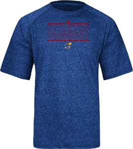 Kansas Jayhawks Adidas Heather Royal Climalite Short Sleeve Basketball Shirt