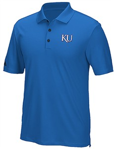 Kansas Jayhawks Mens Adidas ADI Performance Climacool Golf Polo
