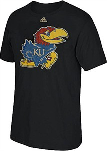 Kansas Jayhawks Mens Black Adidas High End Patch Short Sleeve T Shirt