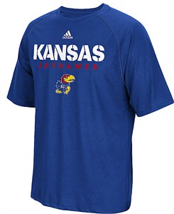 Kansas Jayhawks Royal Sideline 2017 Adidas Climalite Polyester Synthetic T Shirt