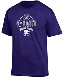 Kansas State Wildcats Purple Football Short Sleeve T Shirt by Champion