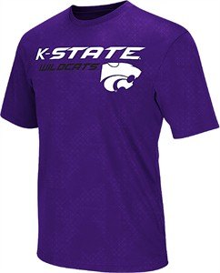 Kansas State Wildcats Purple Mens Gridlock Synthetic Poly Short Sleeve T Shirt