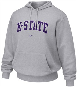 Kansas State Wildcats Grey NCAA Embroidered Hooded Sweatshirt By Nike Team Sports