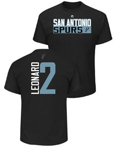 Kawhi Leonard San Antonio Spurs Mens Black Vertical Short Sleeve T Shirt