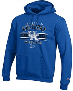 Kentucky Wildcats Royal Property Of  Powerblend Screened Hoodie Sweatshirt by Championon on Sale