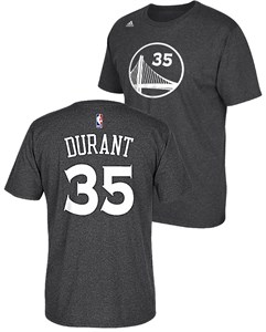 Kevin Durant 35 Adidas Golden State Warriors Charcoal High Def Replica T Shirt