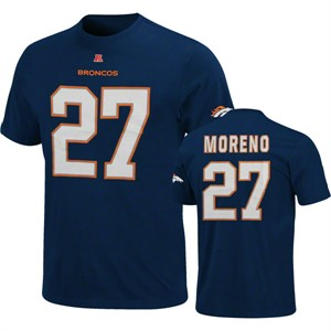 Knowshon Moreno Broncos Navy Players T Shirt by VF