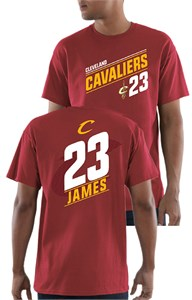 Lebron James Cleveland Cavaliers Mens Garnet 23 Possession T Shirt