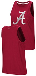 Ladies Alabama Crimson Tide Colosseum Smaller Fit Bet On Me Muscle Tank Top Shirt