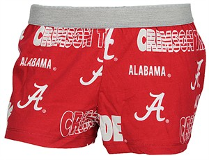 Ladies Alabama Crimson Tide Crimson Sweep Boxer Shorts