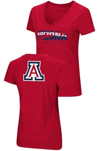 Ladies Arizona Wildcats Red Valuable Commodity SS Tee Shirt