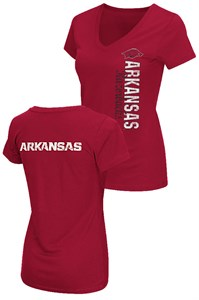 Ladies Arkansas Razorbacks 2 Sided Compulsory Short Sleeve Tee Shirt