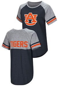 Ladies Auburn Tigers Oversized Short Sleeve T Shirt, Blue, Southbend Blue Sox