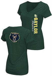 Ladies Baylor Bears 2 Sided Compulsory Short Sleeve Tee Shirt