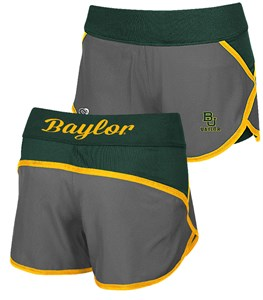 Ladies Baylor Bears Active Wear Compression Shorts by Colosseum