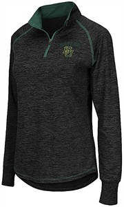 Ladies Baylor Bears Charcoal Bikram Quarter Zip Synthetic Shirt