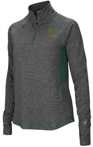 Ladies Baylor Bears Grey Junior Size Sabre 1/4 Zip Synthetic Pullover Wind Shirt