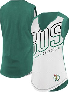 Ladies Boston Celtics White Relevant Play Sleeveless T Shirt