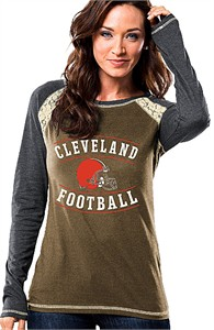 NFL   Cleveland Browns   Ladies Cleveland Browns Long Sleeve Fantasy League  Fashion Tee Shirt 4e0352a28