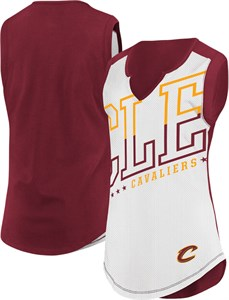 Womens Cleveland Cavaliers White Relevant Player Sleeveless Tee
