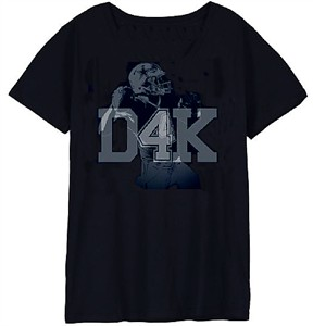 Dak Prescott Womens Navy D4K Short Sleeve T Shirt on Sale