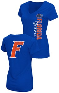 Ladies Florida Gators 2 Sided Compulsory Short Sleeve Tee Shirt