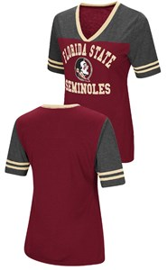 Ladies Florida State Seminoles Smaller Fit Whole Package Synthetic V Neck T Shirt