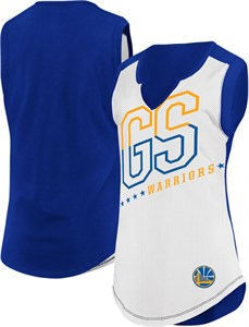 Ladies Golden State Warriors White Relevant Play Sleeveless T Shirt
