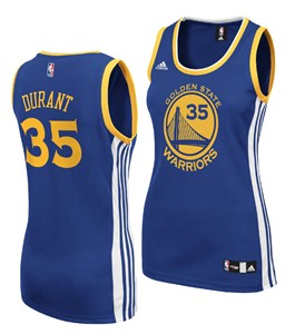 Ladies Kevin Durant Golden State Warriors Basketball Jersey by Adidas  fa3072144