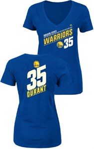 Ladies Kevin Durant Golden State Warriors Solid Recruit V Neck T Shirt