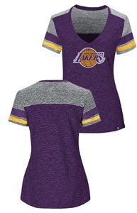 Ladies Los Angeles Lakers Majestic All My Hearts T Shirt on Sale