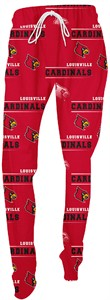 Ladies Louisville Cardinals NCAA Red Fusion Pajama Pants by Concepts Sports