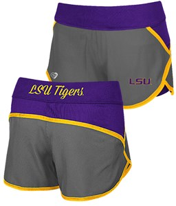 Ladies LSU Tigers Active Wear Compression Shorts by Colosseum