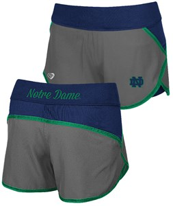 Ladies Notre Dame Fighting Irish Active Wear Compression Shorts by Colosseum