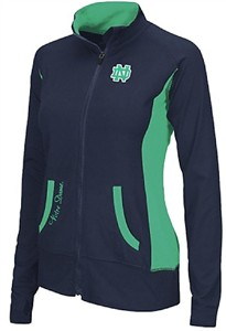Ladies Notre Dame Fighting Irish Blue Slalom Full Zip Synthetic Jacket