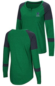 adc5807e37e College > Notre Dame Fighting Irish > Notre Dame Fighting Irish Ladies  Apparel > Ladies Notre Dame Fighting Irish Green Smaller Fit Dorothy Long  Sleeve ...