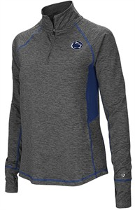 Ladies Penn State Nittany Lions Grey Junior Size Sabre 1/4 Zip Synthetic Pullover Wind Shirt
