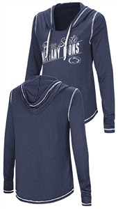 Ladies Penn State Nittany Lions Junior Sized Blue Synthetic Hooded Pullover Top