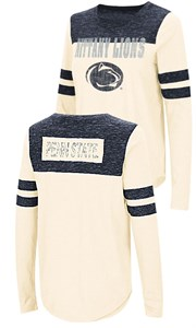Ladies Penn State Nittany Lions Junior Sized Long Sleeve My Way 2 Sided T Shirt