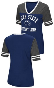 Ladies Penn State Nittany Lions Smaller Fit Whole Package Synthetic V Neck T Shirt