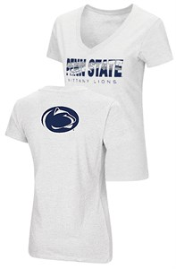 Ladies Penn State Nittany Lions White Valuable Commodity SS Tee Shirt