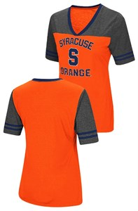 Ladies Syracuse Orange Smaller Fit Whole Package Synthetic V Neck T Shirt